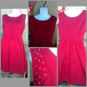Forever 21 burgundy red dress size s